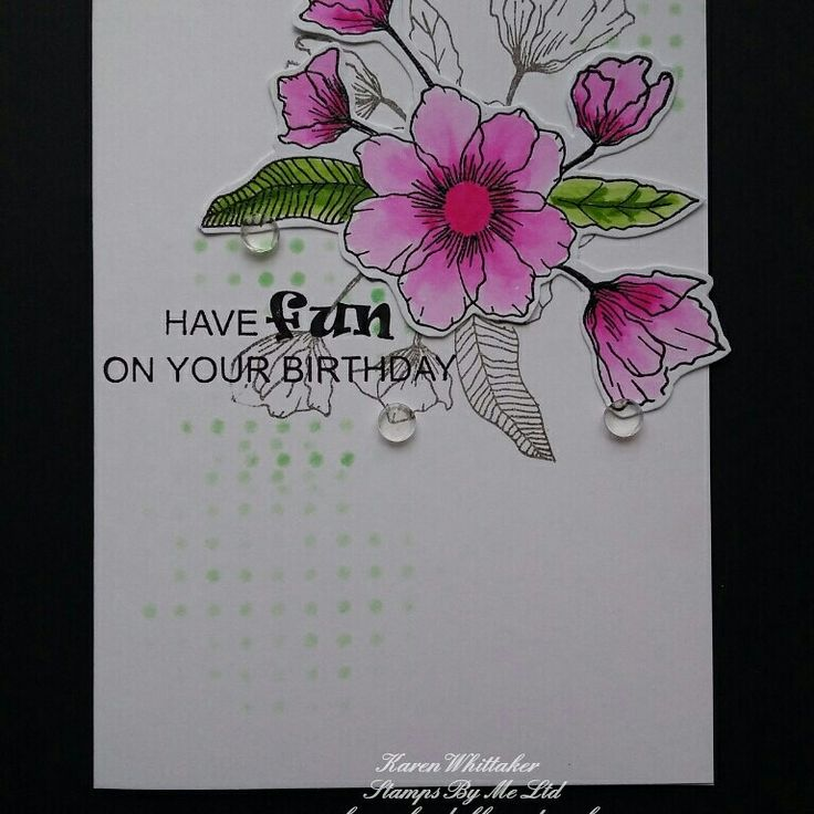 Birthday splendour lamination stamp by Stamps By Me  #stampsbyme #dtsample #birthdaysplendour #flowers #lamination #kuretake #stamps #cardmaking #cards #craft #creative #ilovetocraft #creativity #karenzkardz