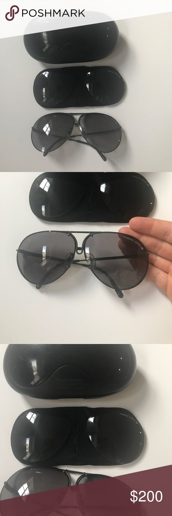 Porsche carrera sunglasses Authentic Porsche Carrera sunglasses. Good lightly used condition. Some scratches on end of one ear arm, not really visible when worn. Comes w replacement lenses Accessories Sunglasses