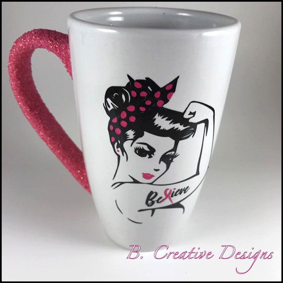 Breast Cancer Awareness Mug | Rosie Pin Up | Breast Cancer Walk | Gift Ideas | Breast Cancer Survivor | Pink Ribbon | Coffee Mug