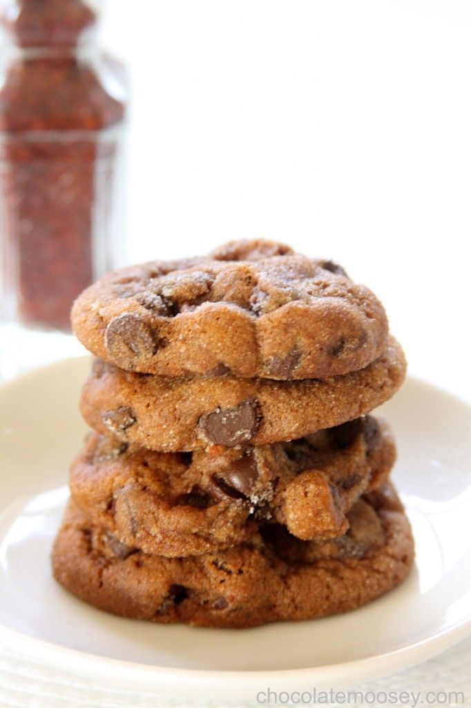 Chocolate Chili Spice Cookies from www.chocolatemoosey.com