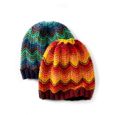 Make Waves Hat/ intermediate / FREE KNITTED pattern - they look like hot air balloons