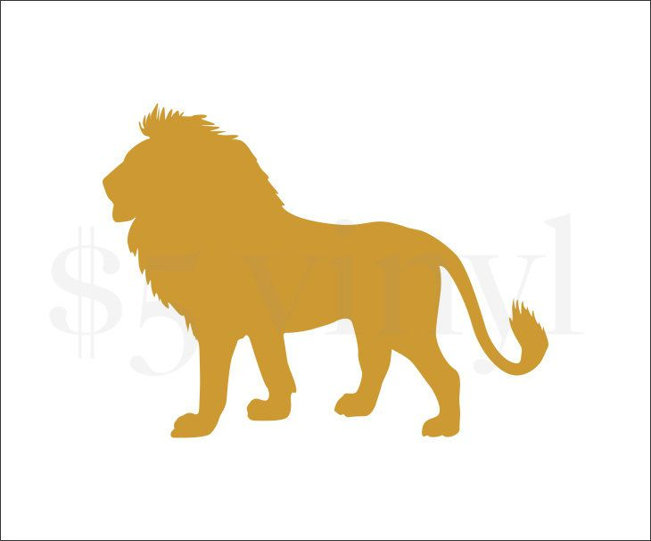 Lion Vinyl, Wall Art, Car Decal, Sticker, Window Decal, Aslan, CS Lewis, King of the Jungle, Lion King, Mufasa, Simba - pinned by pin4etsy.com