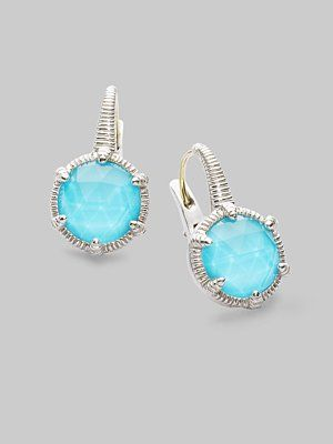Judith Ripka - Turquoise & Sterling Silver Earrings - Saks.com