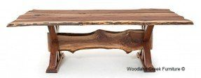 ... Dining Room Dining Tables Rustic Live Edge Trestle Dining