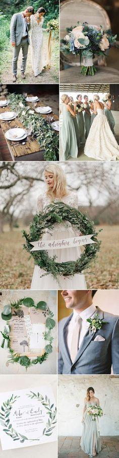 Farbkonzept für eine #grüne #Hochzeit mit Akzenten in Pastelltönen