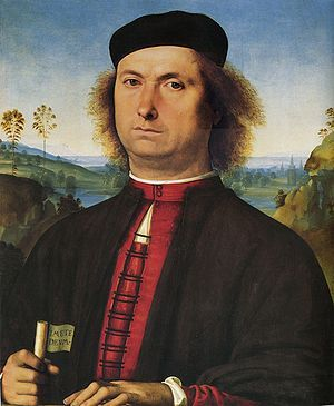 Perugino - Il Ritratto di Francesco delle Opere è un dipinto a olio su tavola (52x44 cm) di Pietro Vannucci detto il Perugino, databile al 1494 e conservato nella Galleria degli Uffizi a Firenze.
