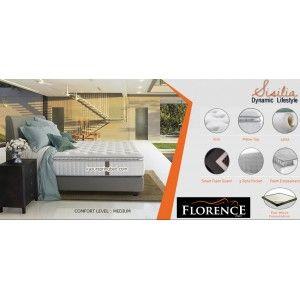SISILIA Florence Spring Bed SERI : Modern Living Mattress thickness : 35 cm Headboard : Prudenzio tinggi 125 cm Foundation Prudenzio : 24 cm Comfort Level : MEDIUM http://www.kasurspringbed.com/florence-springbed/572-sisilia-florence-spring-bed.html