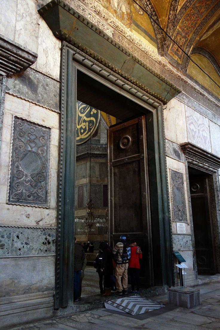 Imperial entrance. Hagia Sophia. Istanbul,Turkey. 1935. Anthemius of Tralles, Isidore of Miletus