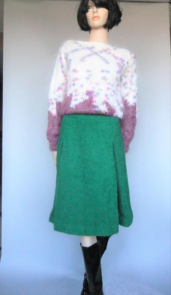 mohair sweater long mohair vintage wool sweater fuzzy wool