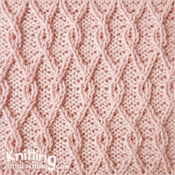 Interlocking Lattice cable stitch. This pattern gives a dense texture in which the illusion of diagonal basket weaving is extremely realistic.