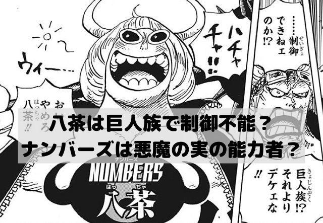 ワンピースの八茶は巨人族で制御不能 ナンバーズは悪魔の実の能力者 漫画 考察 ナンバーズ 巨人