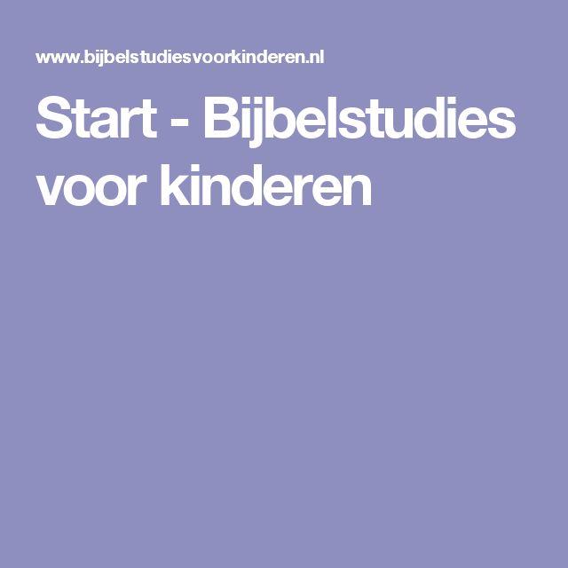 Start - Bijbelstudies voor kinderen