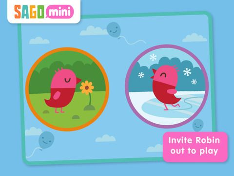 Sago Mini Forest Flyer ages 2+ / $2.99 / iPad, iPhone, iPod Touch.  This fun app explores a forest environment in the spring or winter with a cute pink and red bird.  There are no written words or spoken text in this app, just the sounds of the forest and animals as children use their fingers to navigate where the bird flies, where it lands, what it eats, and what other animals it encounters.