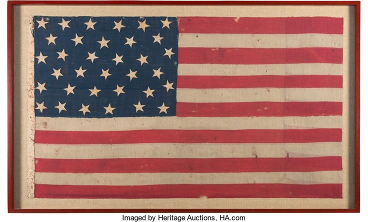 Military & Patriotic:Civil War, Battle of Antietam: Blood-stained Flag....