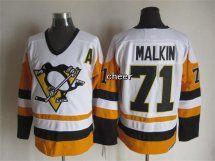 NHL Pittsburgh Penguins #71 malkin white Throwback Jersey