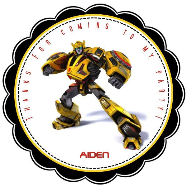 Transformers Personalized Stickers  Party by KiddieCreations1, $5.00