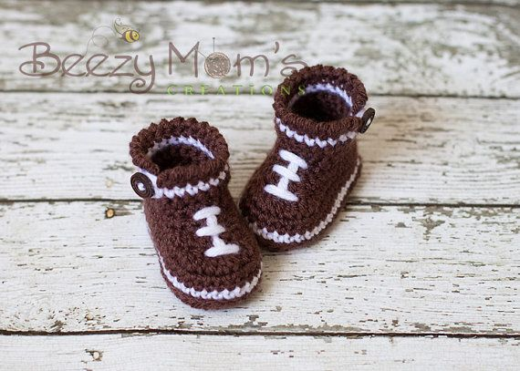 Download PDF crochet pattern b006  Baby Football boots