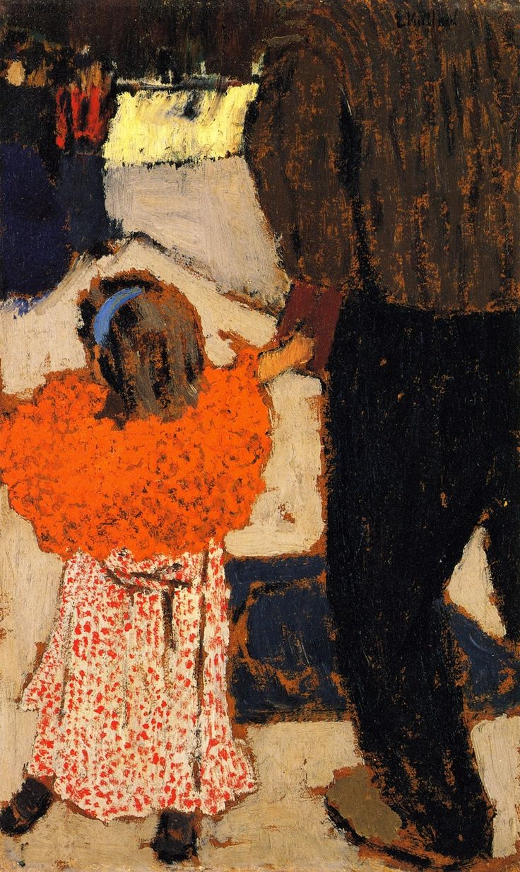 The Athenaeum - Girl Wearing an Orange Shawl (Edouard Vuillard - )