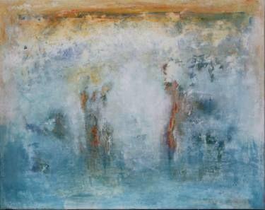 "Saatchi Art Artist Doris Duschelbauer; Painting, ""MUJERES A LA ORILLA DEL MAR"" #art"