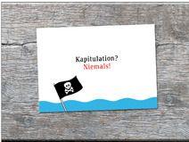 Postkarte Kapitulation? Niemals!