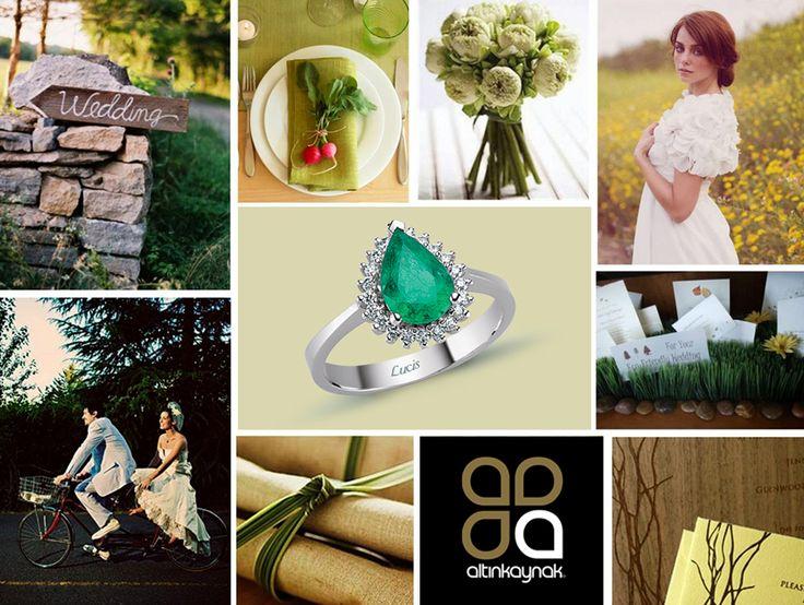 #Green #Wedding #Ideas #Diamond #Jewellery #Yeşil #Düğün #Fikir #Pırlanta #Mücevher