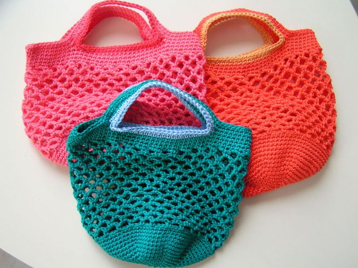 Mesh bag pattern, in French. There is a text and photo tutorial.