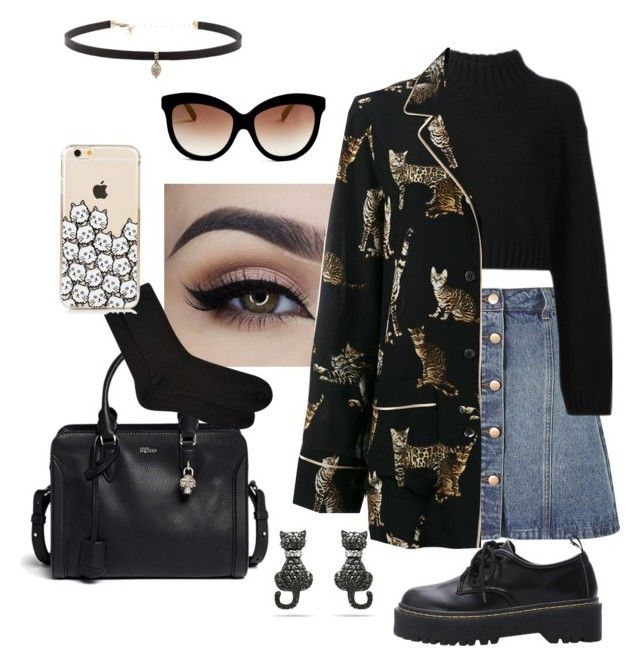 """""""Untitled #102"""" by mellllly on Polyvore featuring Anita & Green, DKNY, Dolce&Gabbana, Italia Independent, Alexander McQueen, Accessorize and Carbon & Hyde"""