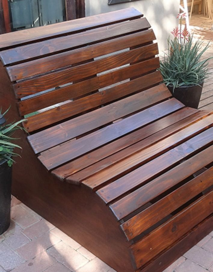 You don't have to be a seasoned DIYer to craft these stylish outdoor loungers. And thanks to their simple wood slat design, you can even bring 'em onto your lawn without damaging grass. Get the tutorial here.     - Redbook.com