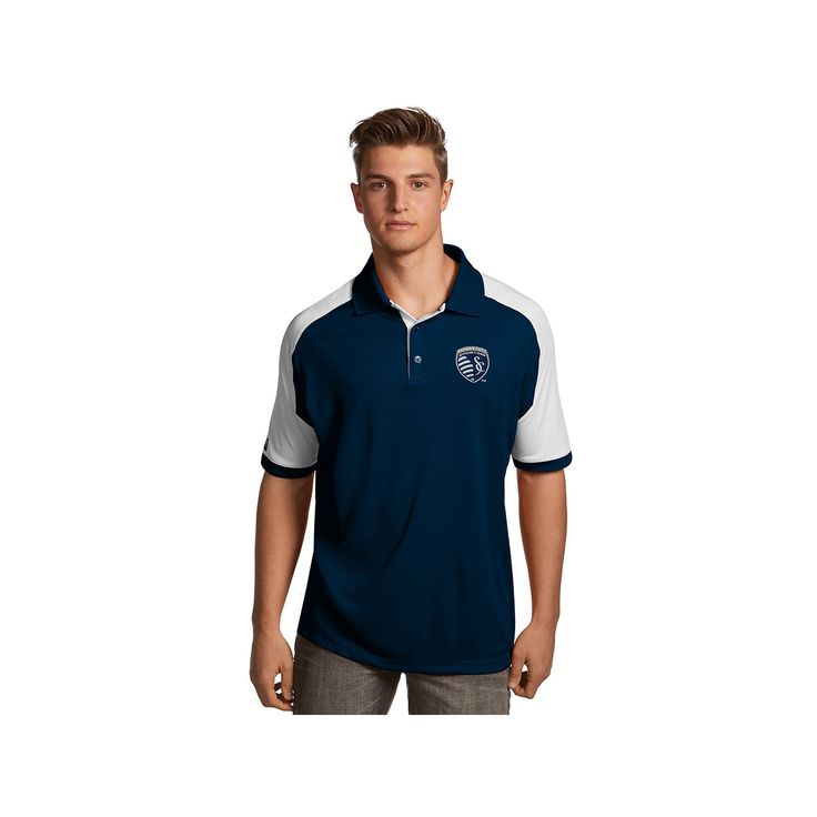 Men's Antigua Sporting Kansas City Century Polo, Size: Medium, Blue (Navy)