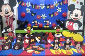 decoracion de fiesta de mickey mouse