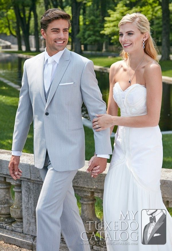 Asheville Tuxedo by Mitchell's - Light Grey 'Grenada' Suit