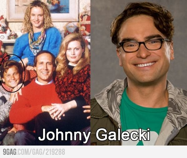Leonard from The Big Bang Theory= Rusty from Christmas Vacation... MIND=BLOWN