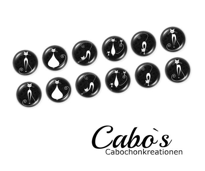 C1408/12 Cabochon Set  12x12mm round w Cabo`s - Kaboszony tworzenie na DaWanda.com