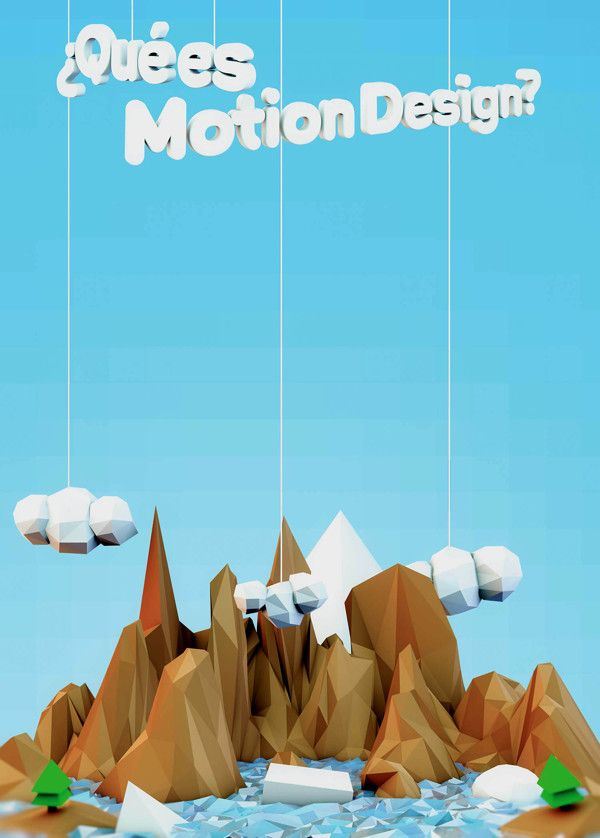 Low Poly Poster by Carlos Go-niji Loera Orozco, via Behance