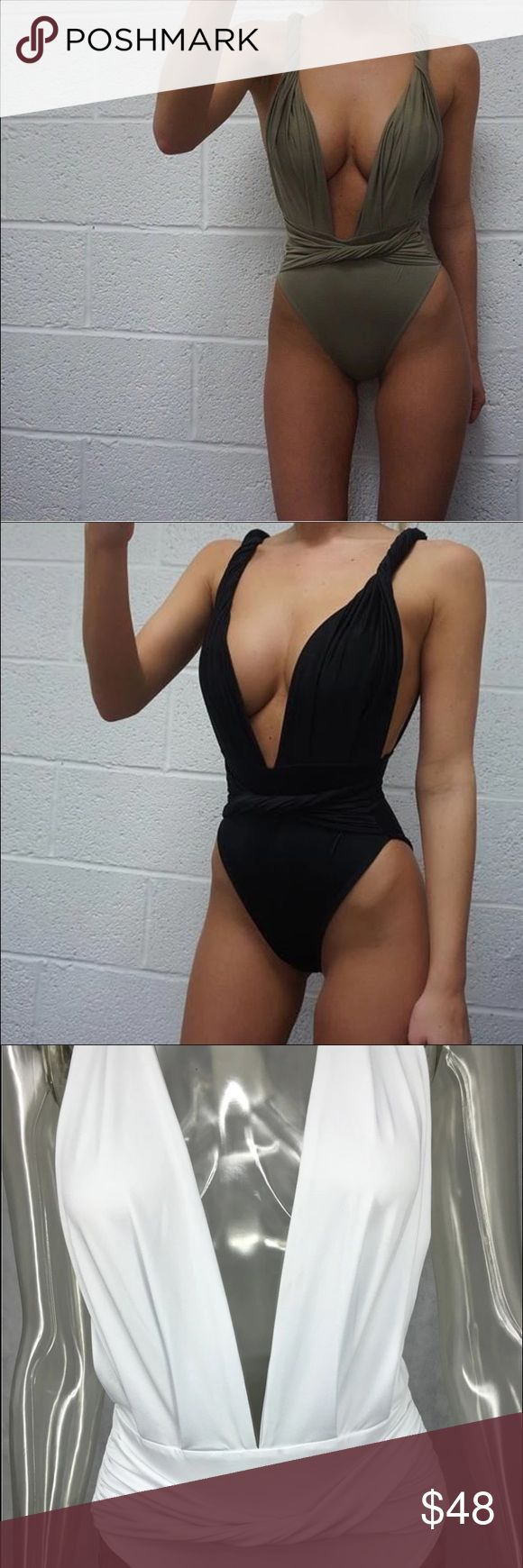 One piece low cut sexy bathing suit One piece low-cut sexy bathing suit! This bathing suit hides all the trouble spots yet still making you feel sexy on the inside and out! I have the suit in black white green and red! S-m-l! Let me know ladies and I will bring a shipment in! Please comment your size and color and I will create a listing for you! this is not from listed brand only here for exposure!!!! Zara Swim One Pieces