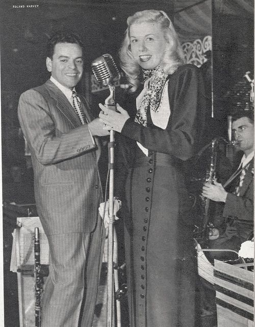 Doris Day singing for Les Brown and his band. A VERY YOUNG DORIS.....