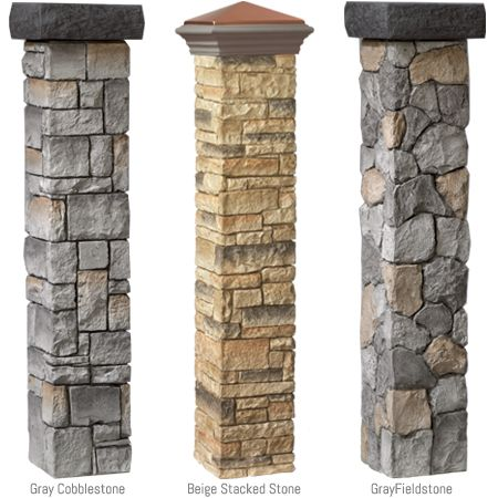 I have to have this......  Cast stone post covers at The Home Depot =) …
