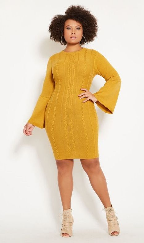 Plus Size Sweater Dresses In Body Contouring Styles | Plus Size ...