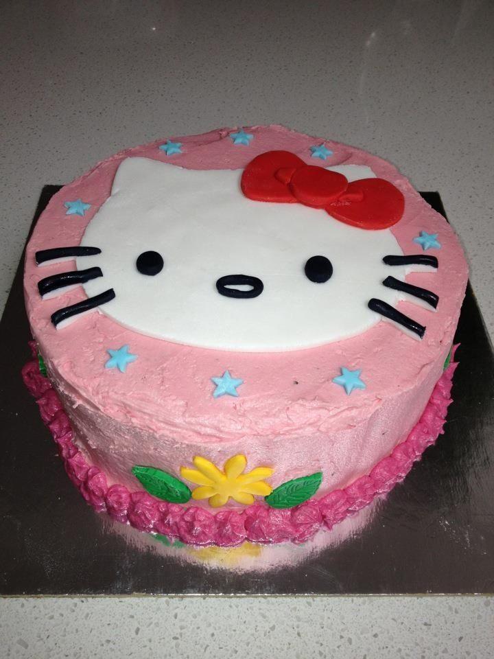 Buttercream and fondant Hello Kitty cake