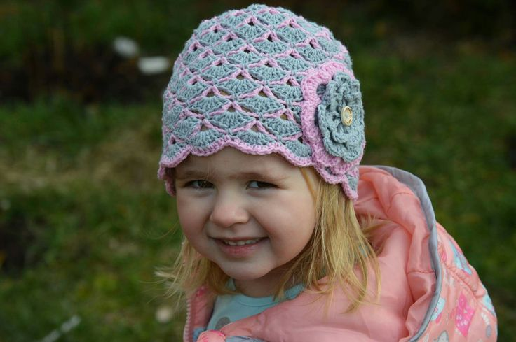 Crochet spring hat for girl 💗