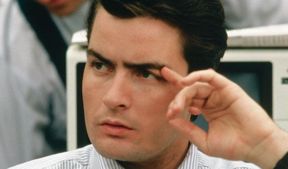 "Bud Fox (Charlie Sheen) in ""Wall Street"""