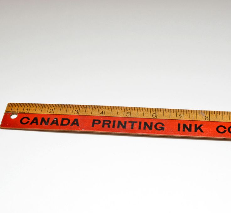 """Vintage Advertising Wooden Ruler 18"""" Canada Printing Ink Co, Limited by vtgwoo on Etsy"""