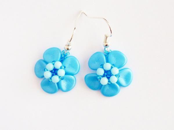 Kolczyki niezapominajki #forgetmenot #earrings #blue #rosepetals #flowers #spring #jewelry