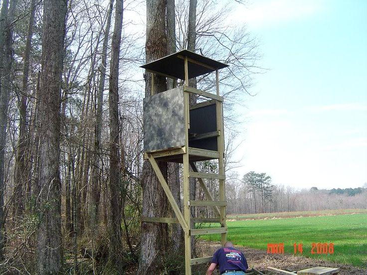 DIY Deer Stand | Homemade Ladder Deer Stands Homemade wooden ladder stand