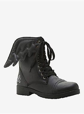 Angelic Sole // Supernatural Castiel Wing Combat Boots