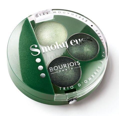 ΤοBourjois Trio Smoky Eyes Eyeshadow, βραβευμένο με 5 αστέρια, είναι το μυστικό σας για ένα σοφιστικέ, smokey eyes look! Τρεις σκιές με ιδιαίτερα απαλή και βελούδινη υφή θα σας βοηθήσουν να πετύχετε το τέλειο smokey eyes μακιγιάζ. Η ειδική σύστασή τους, εμπλουτισμένη με μεταλλικά συστατικά, πρ