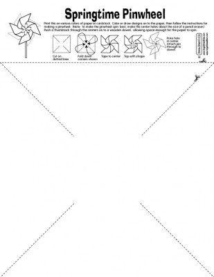 Easy Printable Pinwheel Pattern Angelstreetmom Pinwheels