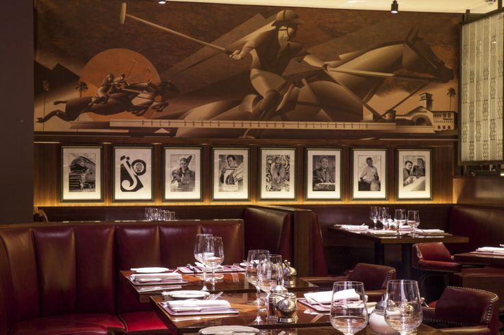 The murals are by my pal, John Mattos: The Colony Grill Room at The Beaumont Hotel in London