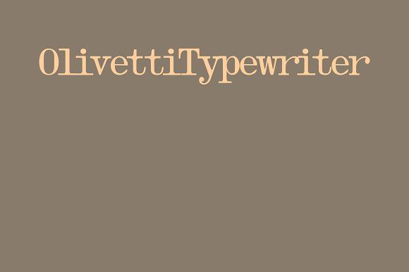 Olivetti Typewriter by Intellecta Design on @creativemarket