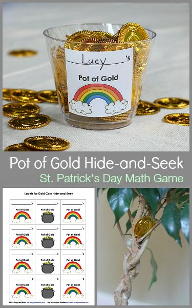 Math Games for Kids: St. Patrick's Day Gold Coin Hide-and-Seek ~ BuggyandBuddy.com